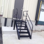 Stairs at loading dock